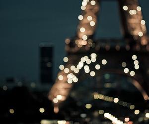 light, paris, and night image