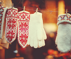 gloves, christmas, and girly image