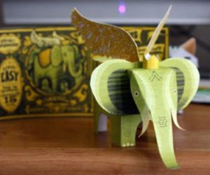 elephant, green, and wings image