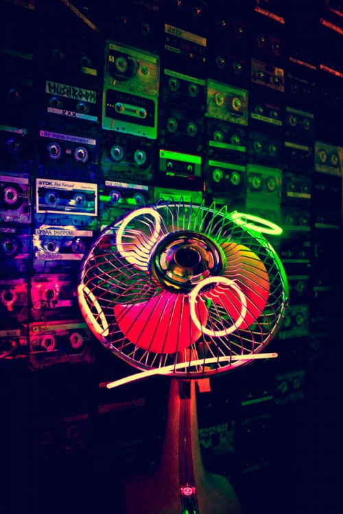 neon, fan, and light image