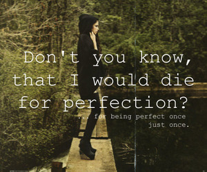 perfection, die, and text image