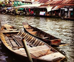 thailand, travel, and float market image