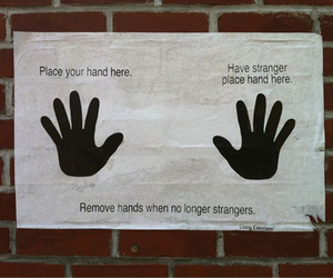 stranger, hands, and friends image