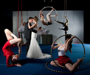 aerial, circus, and hoop image