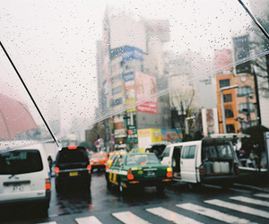 car, rain, and street image