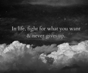 life, clouds, and quote image