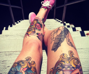 tattoo, legs, and vans image