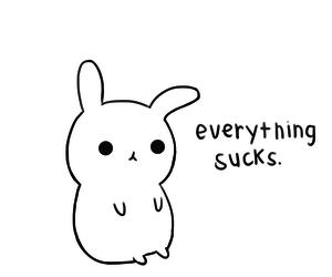 bunny, sucks, and everything image