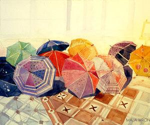 umbrella, art, and illustration image