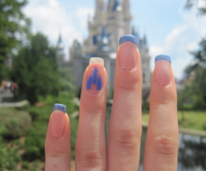 nails, disney, and blue image