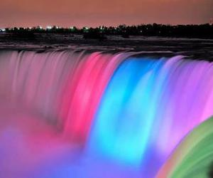 beautiful, colors, and waterfall image