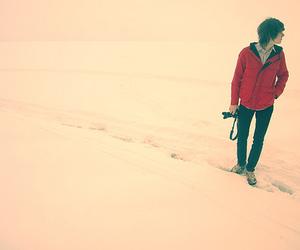 boy, snow, and camera image