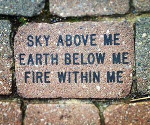 quotes, fire, and sky image