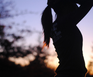 girl, pretty, and shadow image