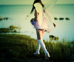 girl and fairy image