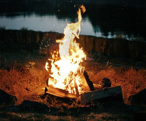 fire, bonfire, and nature image