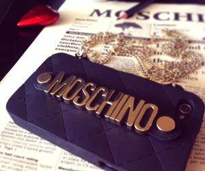 Moschino, iphone, and black image