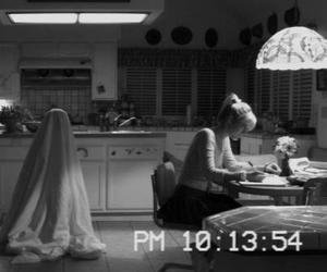 paranormal activity, ghost, and black and white image