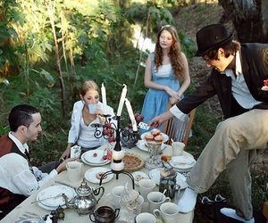 alice, cake, and forest image