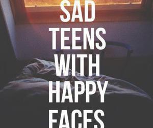 sad, teens, and happy image