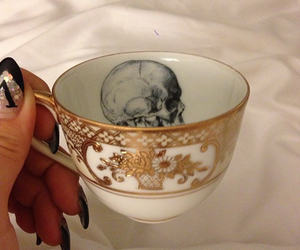 cup, nails, and skull image