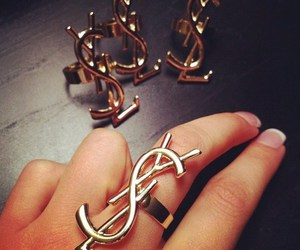 YSL, ring, and gold image
