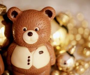 bear, chocolate, and christmas image