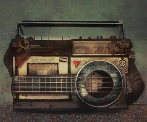 music, radio, and vintage image