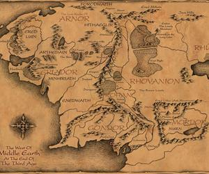 art, middle earth, and lord of the rings image