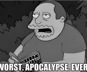 simpsons, apocalypse, and black and white image