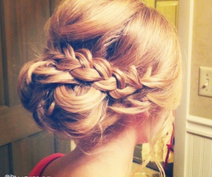 braid, bun, and like image