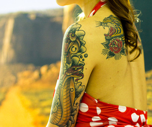 girl, ink, and pretty image