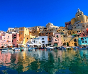 sea, italy, and Naples image