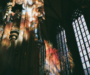 glass, light, and stained glass image