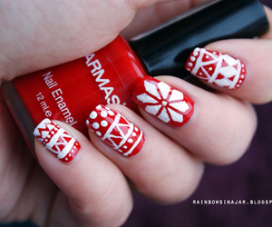 christmas, nails, and pattern image