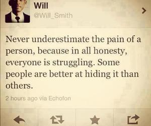 quote, will smith, and pain image