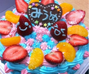 blue, strawberry, and cake image