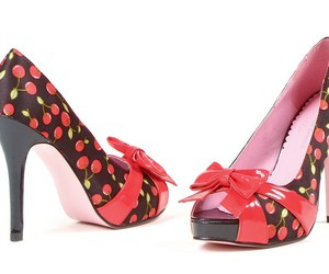 cherry, footwear, and lace image