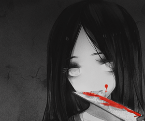 anime, blood, and knife image