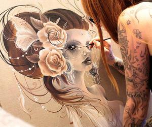 art, tattoo, and drawing image