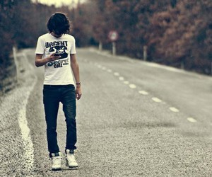 boy, road, and street image