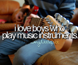 boy, music, and instrument image