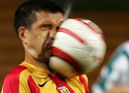 funny, soccer, and ball image