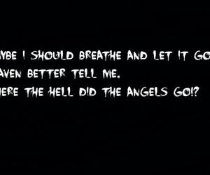 papa roach, song lyrics, and where did the angels go image
