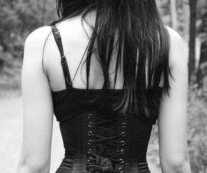 corset, gothic, and black image