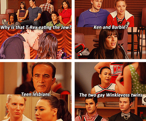 glee, quinn fabray, and couple image