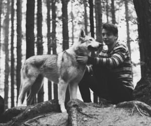 dog, nature, and black and white image