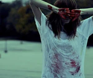 blood and girl image