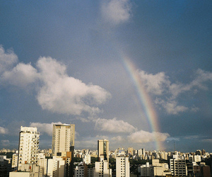 rainbow, view, and sky image