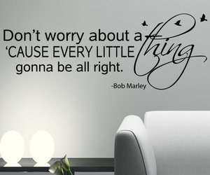 bob marley, quote, and don't worry image